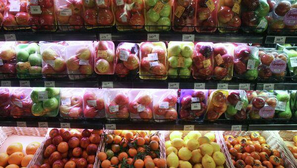 Отдел фруктов супермаркете. Архивное фото. - Sputnik Абхазия
