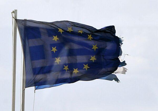 Флаги ЕС и Греции. - Sputnik Абхазия