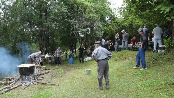 Обрядовый праздник Ацуныху провели в селе Ачандара - Sputnik Абхазия
