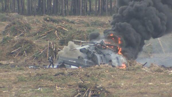 Второй пилот сам смог покинуть горящий вертолет после крушения в Рязани - Sputnik Абхазия