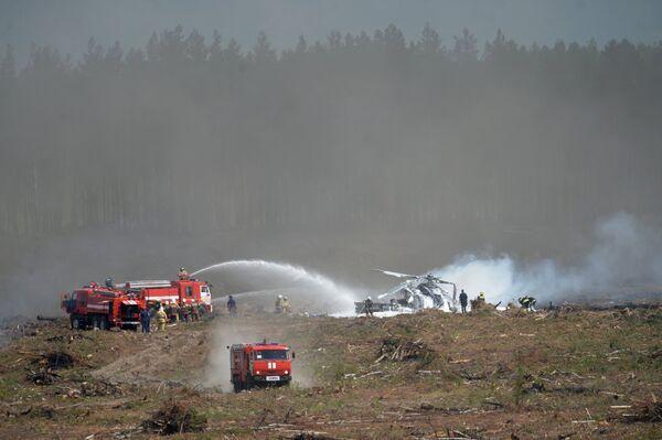 Вертолет Ми-28 потерпел крушение в Рязанской области - Sputnik Абхазия