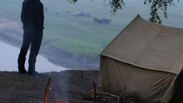 Палаточный лагерь. Архивное фото. - Sputnik Абхазия
