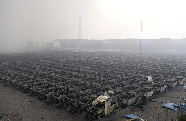 Последствиявзрыва в городе Тяньцзинь. Фото с места события. - Sputnik Абхазия