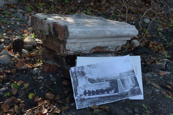 Предположительная деталь надгробия Келешбея Чачба. - Sputnik Абхазия