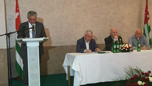 Собрание партии ФНЕА в Сухуме - Sputnik Абхазия