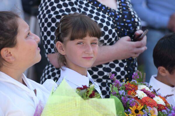 Первое сентября в школе Лицей-Интернат - Sputnik Абхазия