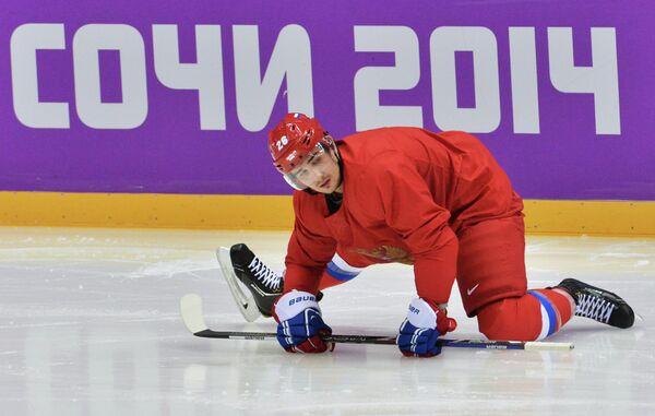 Олимпиада 2014. Хоккей. Тренировка мужской сборной России - Sputnik Абхазия