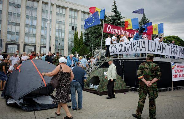 Акции протеста в Кишиневе - Sputnik Абхазия