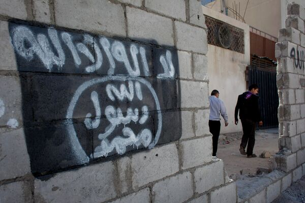Граффити с изображением флага исламского государства. Архивное фото. - Sputnik Абхазия