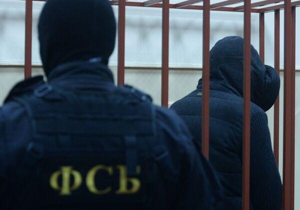 Губернатор Сахалинской области А.Хорошавин на заседании в Басманном суде - Sputnik Абхазия