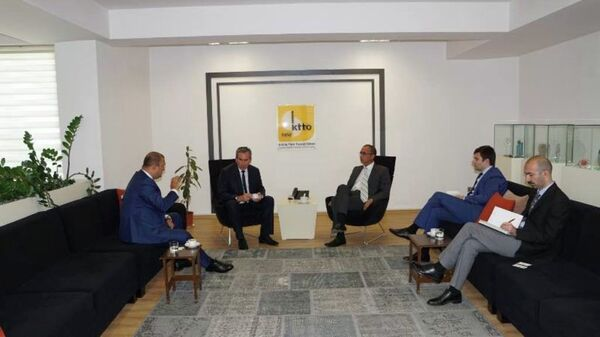 Абхазская делегация находится с рабочим визитом в Северном Кипре. - Sputnik Абхазия