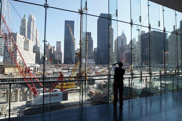 Стройка на месте разрушенных башен-близнецов в Нью-Йорке - Sputnik Абхазия