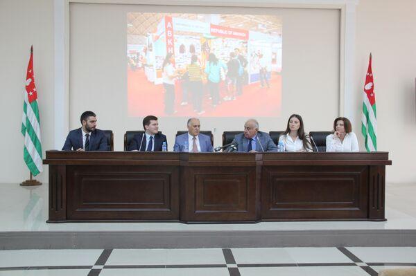 Пресс-конференция МИД и ТПП республики Абхазия - Sputnik Абхазия