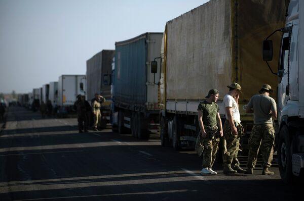 Активисты заблокировали трассу у поселка Чонгар на границе Украины и Крыма.20 сентября 2015 г - Sputnik Абхазия
