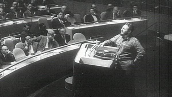 Речь Фиделя Кастро в ООН, занесенная в Книгу рекордов Гиннесса. Архив - Sputnik Абхазия