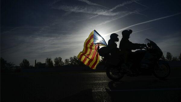 Акции в Барселоне в поддержку референдума о независимости Каталонии - Sputnik Абхазия