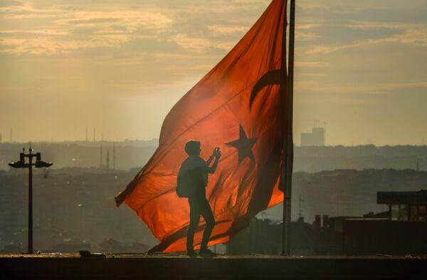 Флаг Турции. Архивное фото - Sputnik Абхазия