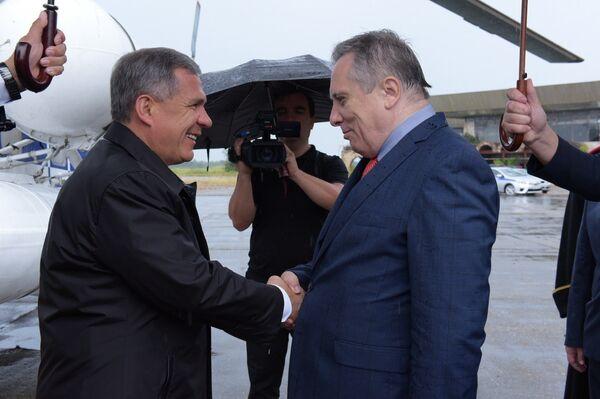 Президент Татарстана впервые прибыл в Сухум с официальным визитом - Sputnik Аҧсны