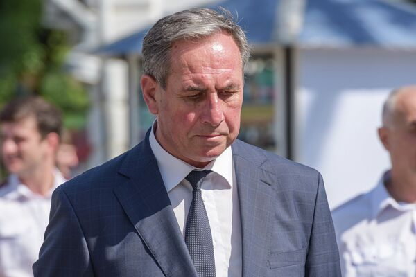 Министр ВД Беслан Хагба. - Sputnik Абхазия