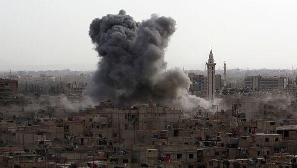 Последствия авиаударов в Сирии. Архивное фото - Sputnik Абхазия