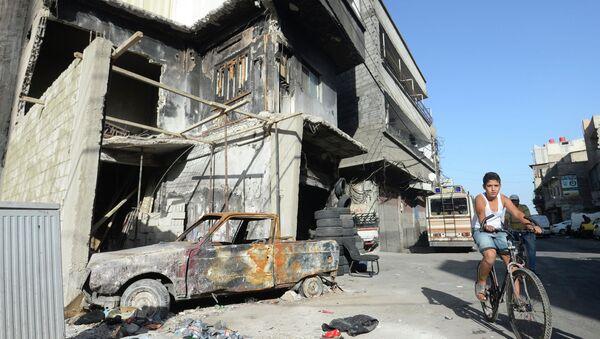Местный житель в районе Аббас в Дамаске. - Sputnik Абхазия