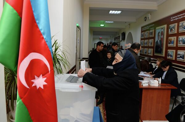 Парламентские выборы в Азербайджане. Архивное фото - Sputnik Абхазия