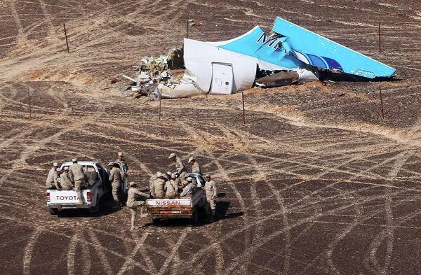 Место крушения российского самолета Airbus A321 в Египте. Архивное фото - Sputnik Абхазия
