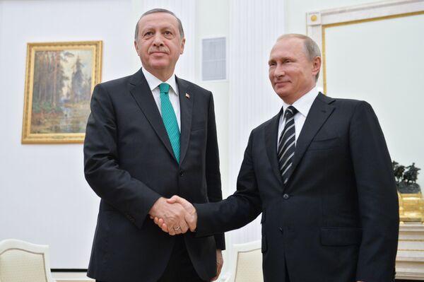 Президент РФ В.Путин встретился с президентом Турции Р.Эрдоганом - Sputnik Абхазия