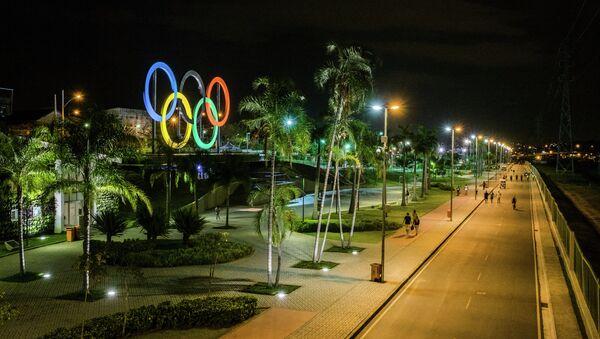 Олимпийские кольца в Рио-де-Жанейро. - Sputnik Абхазия