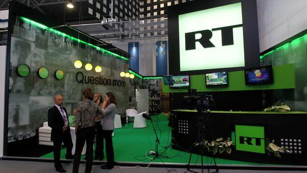 Стенд канала Russia Today. Архивное фото - Sputnik Абхазия