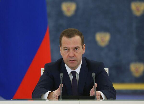 Председатель правительства России Дмитрий Медведев. - Sputnik Абхазия