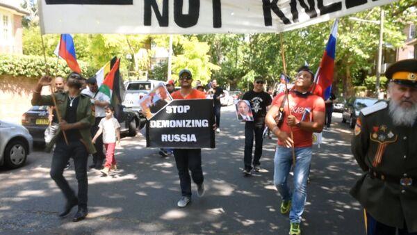 Перестаньте демонизировать Россию – митинг у консульства Турции в Сиднее - Sputnik Абхазия