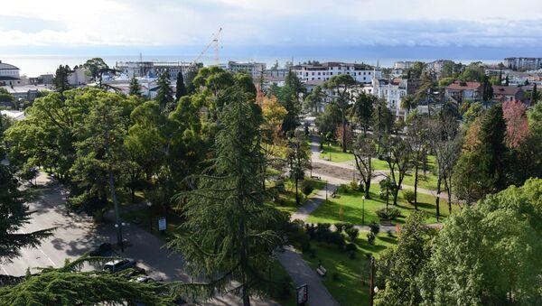 Вид на центральный парк в Сухуме. - Sputnik Абхазия