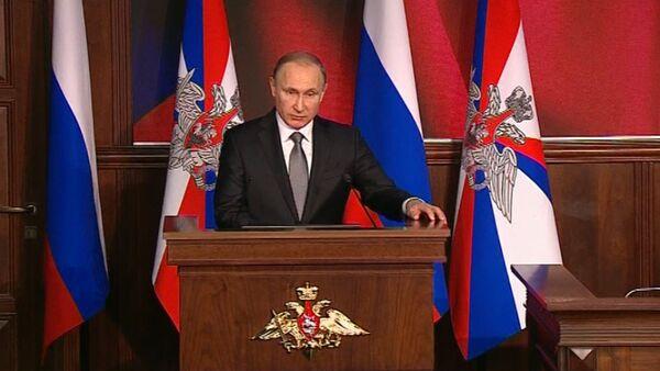 Путин на коллегии Минобороны: защита военных РФ в Сирии и переоснащение армии - Sputnik Абхазия