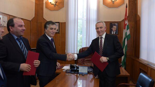 Подписание Соглашения в Минздраве Абхазии - Sputnik Абхазия