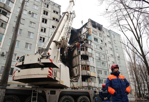 Последствия взрыва газа в жилом доме в Волгограде. Архивное фото - Sputnik Абхазия