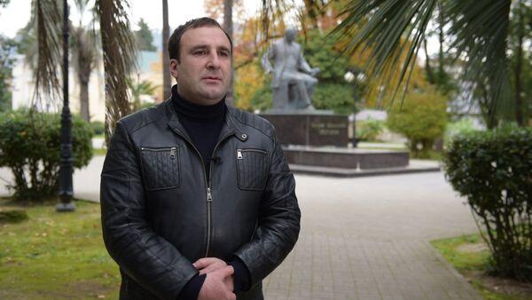 Капитан Нарт из Абхазии прочел Баграта Шинкуба для Sputnik. Чтения - Sputnik Абхазия