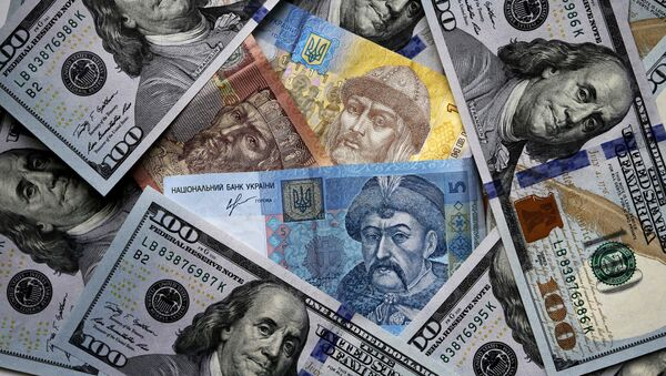 Денежные купюры и монеты США и Украины - Sputnik Абхазия