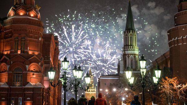 Празднование Нового года в Москве - Sputnik Абхазия