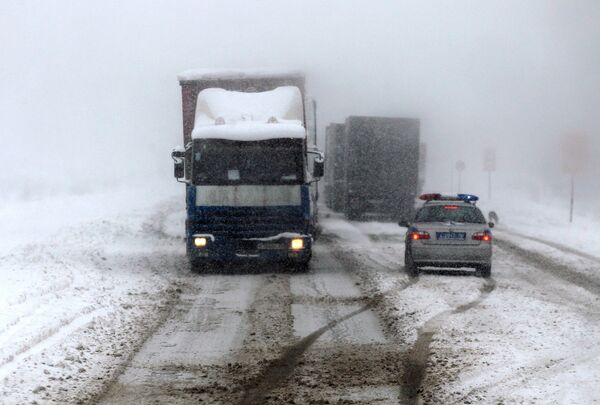 Сильный снегопад в Татарстане - Sputnik Абхазия