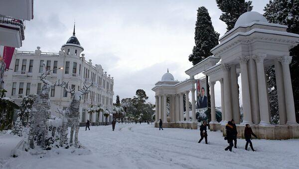 Снег в Сухуме. - Sputnik Абхазия