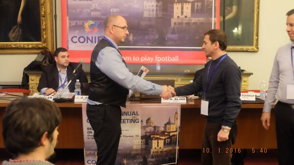 Президент Федерации футбола Абхазии Руслан Аджинджал. - Sputnik Абхазия