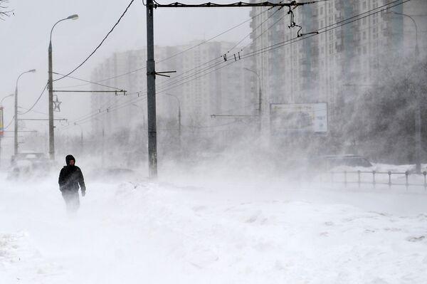 Метель в Москве. Архивное фото - Sputnik Абхазия