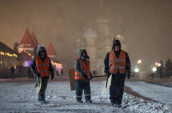Снегопад в Москве. Архивное фото - Sputnik Абхазия