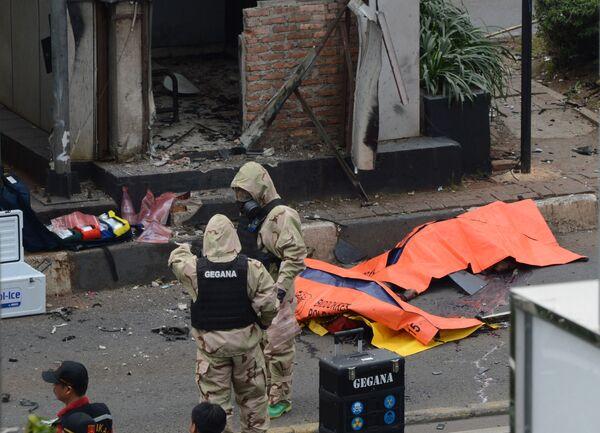 Погибшие в результате взрывы в Джакарте. - Sputnik Абхазия