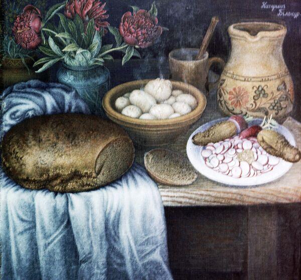 Репродукция картины Завтрак. Архивное фото - Sputnik Абхазия
