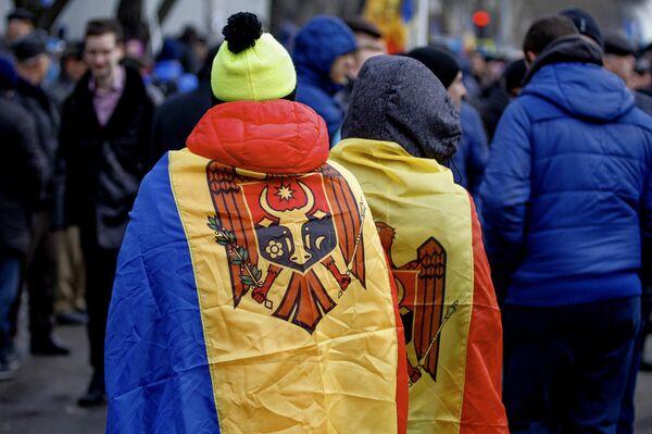 Акция протеста в Кишинёве с требованием проведения досрочных парламентских выборов - Sputnik Абхазия