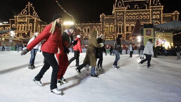 Празднование Дня студента на катке на Красной площади. Архивное фото - Sputnik Абхазия