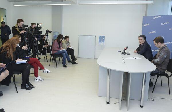 Пресс-конференция минздрава в Арсмира. - Sputnik Абхазия