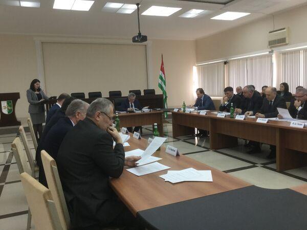 Заседание Кабинета министров Абхазии - Sputnik Абхазия